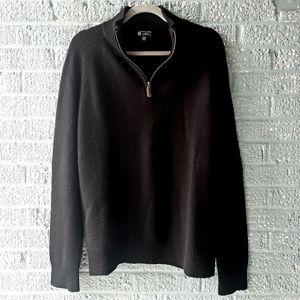 J. CREW Italian 100% Cashmere Quarter Zip Sweater